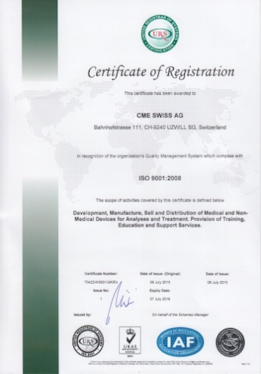 KME ERI certifikát